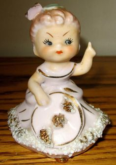 Ucagco Southern Belle Figurine (missing her Parasol) plus Bell Figurine | #1818062846