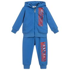 947d02218159 Baby Boys Blue Tracksuit for Boy by Moschino Baby. Discover the latest  designer Tracksuits for
