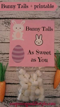 Bunny Tails Easter party favor with printable