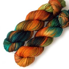 Originally $26  This is superwash Merino 2-ply yarn. It is solid fingering weight, with approx. 375 yards per 4 oz. skein. It is lovely for socks,  by JulieSpins via Etsy