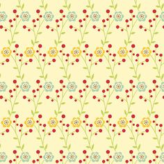 Early Bird By Cosmo Cricket, Standing Wildflowers in Multi Colors, 1 Yard