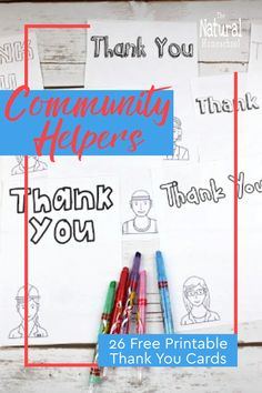 Here, we share with you 26 free printable community helpers thank you cards! Share the love and make some for the unsung community workers and volunteers! Community Helpers For Kids, Community Workers, Writing Games, Writing Lessons, Writing Curriculum, Writing Worksheets, Fine Motor Activities For Kids, Indoor Activities, Learning Activities