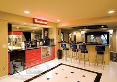 retro concession stand decor   and a home theater concession stand!