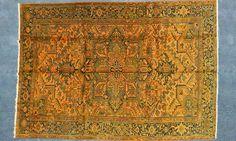 Gelber Orient Teppich by KISKAN PROCESS HAMBURG, Orientteppich, gefärbter Teppich, Wohnzimmer, vintage, orient, muster, Wohneinrichtung, Vintage Teppich, rug, carpet, orange