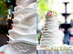 Love this cake from this New Orleans wedding shot by Mark Eric!