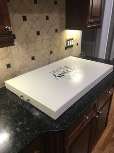 Personalized Wooden Stove Top Cover Home Sweet Home cooktop Gas Stove Top Covers, Wooden Stove Top Covers, Burner Covers, Tampa Para Cooktop, Clean Stove Top, Clean Burners, Modern Stoves, Noodle Board, Sweet Home