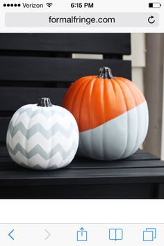 Love the dipped painted pumpkin