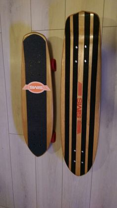Sims superlight and Sims woodkick old school skateboard