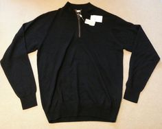#men PETER MILLAR men size M black 1/2 zip sweater NWT (100% merino wool) PeterMillar withing our EBAY store at  http://stores.ebay.com/esquirestore