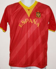 ESPAÑA SOCCER JERSEY T-SHIRT S SMALL FOOTBALL WORLD CUP SPAIN CAMISETA FÚTBOL #Drako #soccershirts #soccerjerseys #fifaworldcup #football #soccer #worldcup2014 #spain #ESPAÑA