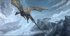 A dragon... by VargasNi.deviantart.com on @DeviantArt