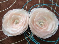 Bridal hair accessory set of 2 bridal hair piece by LeFleurShop