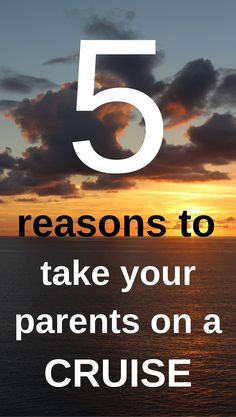 5 Reasons to Take Your Parents on a #Cruise via @cruiseradio -- #Plan2Travel