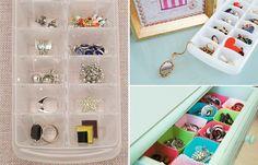 10 ideias criativas de como organizar bijuterias