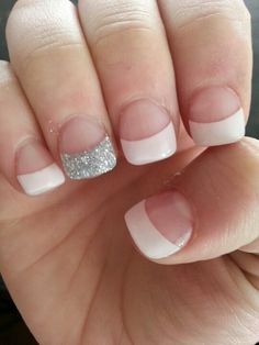 Getting my nails done like this Fridayyyyy Shellac Nails, Diy Nails, Cute Nails, Pretty Nails, Pretty Toes, Gel Manicure, Gel Nail, Sparkly Acrylic Nails, Glitter Nails
