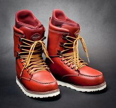 Burton Snowboards teamed up with legendary shoe maker Red Wing Heritage to collaborate on a boot that would offer the form and function of Burton's boots with the look and feel of your classic Red Wing boot.