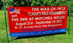 A War of 1812 reenactment, the Battle of Caulk's Field, Kent County, 2012