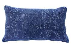 Batik-Patterned Cotton    Pillow