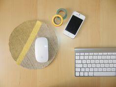 Yellow Pillows - #elretopinterest agosto DiY Alfombrilla de Ratón - DiY Mouse Pad