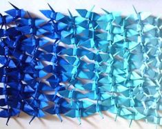 100 Origami Cranes Origami Paper Cranes Paper Crane Origami Crane - Made of 7.5cm 3 inches Japanese Paper - 5 Blue Colors - Small