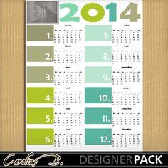 2014 Colorful 11x8 Calendar 1-000