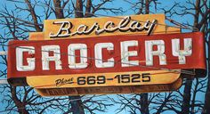 Will Rafuse - BARCLAY GROCERY, 2015; Oil on Canvas,  20˝ × 36˝
