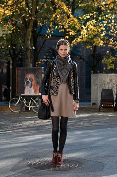 from Copenhagen Street Style. check out that awesome dog painting!