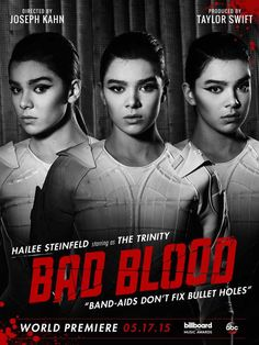 Hailee Steinfeld on 'Bad Blood' music video poster