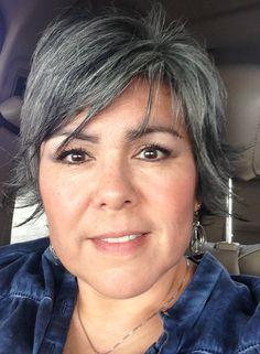 Gray hair getting longer
