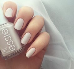 nails, essie, and nail polish image How To Do Nails, Fun Nails, Pretty Nails, Glitter Nails, Ongles Beiges, Manicure Y Pedicure, Nagel Gel, Nail Polish Colors, Matte Nail Polish