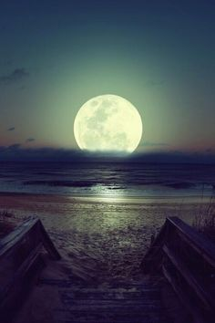 Full Moon, Brazil - almost otherworldly
