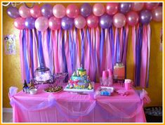 Princess Party Decoration Ideas Best Of Disney Princess Birthday Cake Table Birthday Party Planner, Cake Table Birthday, Birthday Table Decorations, Princess Party Decorations, Birthday Parties, 2nd Birthday, Barbie Birthday, Surprise Birthday, Tea Parties