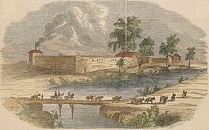 Picture Sutter's Fort a few years before the 1850 flood. History of Sacramento, California - Wikipedia, the free encyclopedia