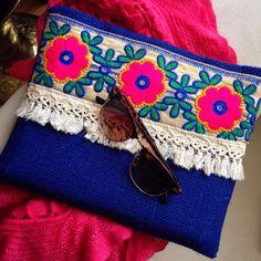 Boho bag Bohemian clutch Gypsy bag Valentines by BOHOCHICBYDAMLA