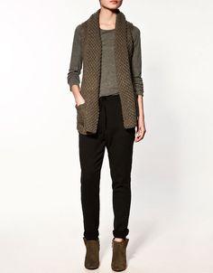 Classy. waistcoat knit  #minimalist #fashion