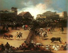 Francisco de Goya (1746-1828)  The Bullfight  Oil on canvas  Metropolitan Museum of Art, Manhattan, New York, USA