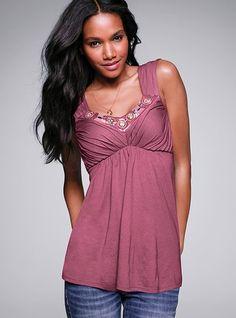 Embellished Lightly Padded Bra Top - Victoria's Secret