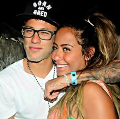 Neymar and his sister Rafaella