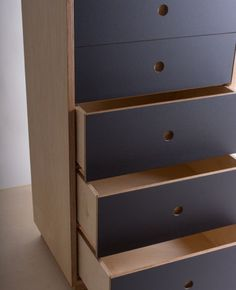 Tall Chest of Drawers Birch Plywood and by bee9designshop on Etsy