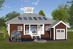 Cottage Country Craftsman Modern Rear Elevation of Plan 74844