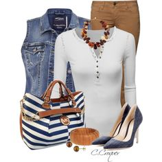 Denim Vest & Pumps by ccroquer on Polyvore featuring polyvore, fashion, style, Doublju, Silver Jeans Co., CIMARRON, Gianvito Rossi, C'N'C, Devon Leigh, Ice and Michael Kors