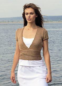 Ravelry: Wrap Cardigan pattern by Vladimira Cmorej