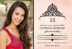 quinceanera inspirations | Quinceanera Invitation Wording Ideas & Inspiration From PurpleTrail
