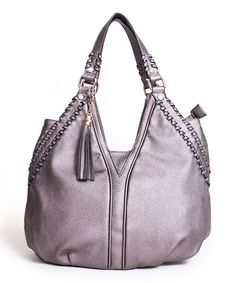 Take a look at this Pewter Whip-Stitched Tote by Segolene Paris on #zulily today!
