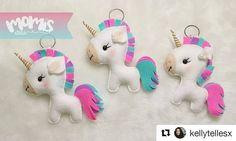 Olha que lindo o trabalho da @kellytellesx . E você, tem algum trabalho inspirado em nossos cursos? Clique no link da bio e aproveite nossos cursos  #Repost @kellytellesx with @repostapp  ・・・  Em um caso de amor eterno com esses chaveiros de unicórnio❣️  Quero todoooooos❣️❤️  #momisateliê #artesanato #jacobina #feltro #unicornio #love