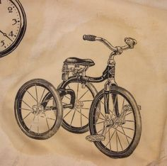 Image Transfers on Fabric. Learn a super-fast and easy technique to transfer your favorite graphics onto fabric. Diy Print On Fabric, Printing On Fabric, Bicycle Decor, Bicycle Art, Fabric Painting, Fabric Art, Fine Art Photo, Photo Art, Photo Transfer