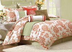 Beautiful bed set from home decorators.