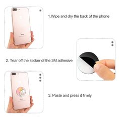 Universal Finger Ring Stand for iPhone Rose Gold Smartphones Asstar 360 Rotation Water Drop Shape Magnetic Phone Grip Kickstand Samsung Cell Phone Ring Stand Holder Tablet