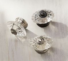 $7-$9 dollars Vintage Glass Oval Knob #potterybarn