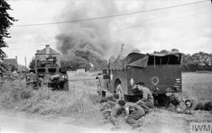 The British Army in the Normandy Campaign 1944 - Category:World War II forces of Britain in France - Wikimedia Commons Battle Of Normandy, D Day Normandy, Les Cents, Ww2 Pictures, Royal Marines, Military Modelling, British Army, British Tanks, France